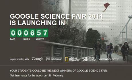 In less than 7 hours, at www.googlesciencefair.com, the Google Science Fair commercial launches ... which we are very excited to have cast